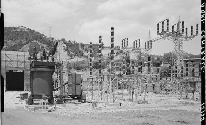 Stazione elettrica in costruzione