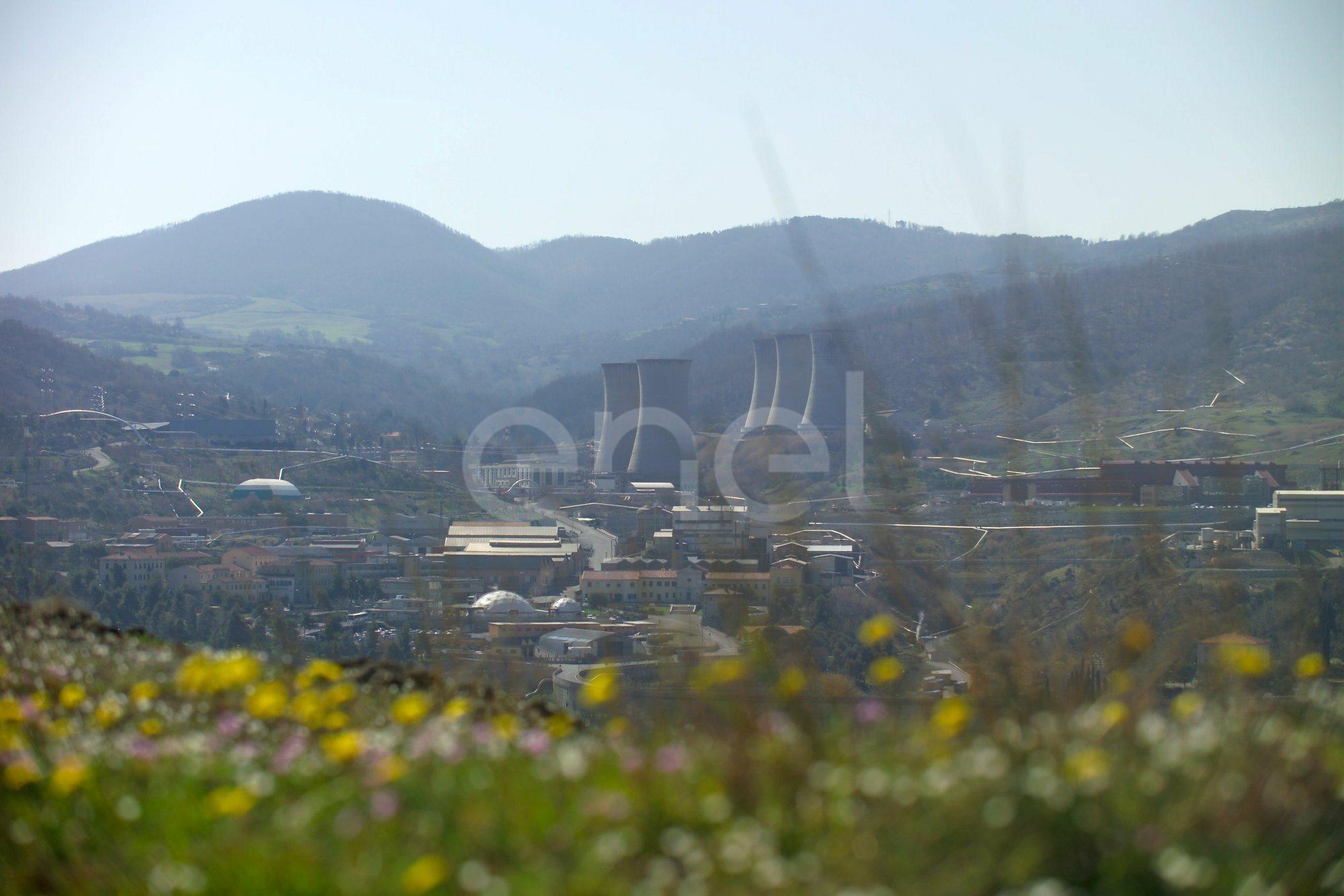 Veduta centrale di Larderello