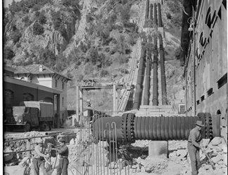 Centrale di Timpagrande in costruzione