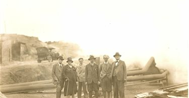 Larderello. Visite prefetti Margoni e Marzano, Sen.Bocciardo, Marchesi Imperiali, Principi Colonna, Conti Guicciardini. 1930/1937