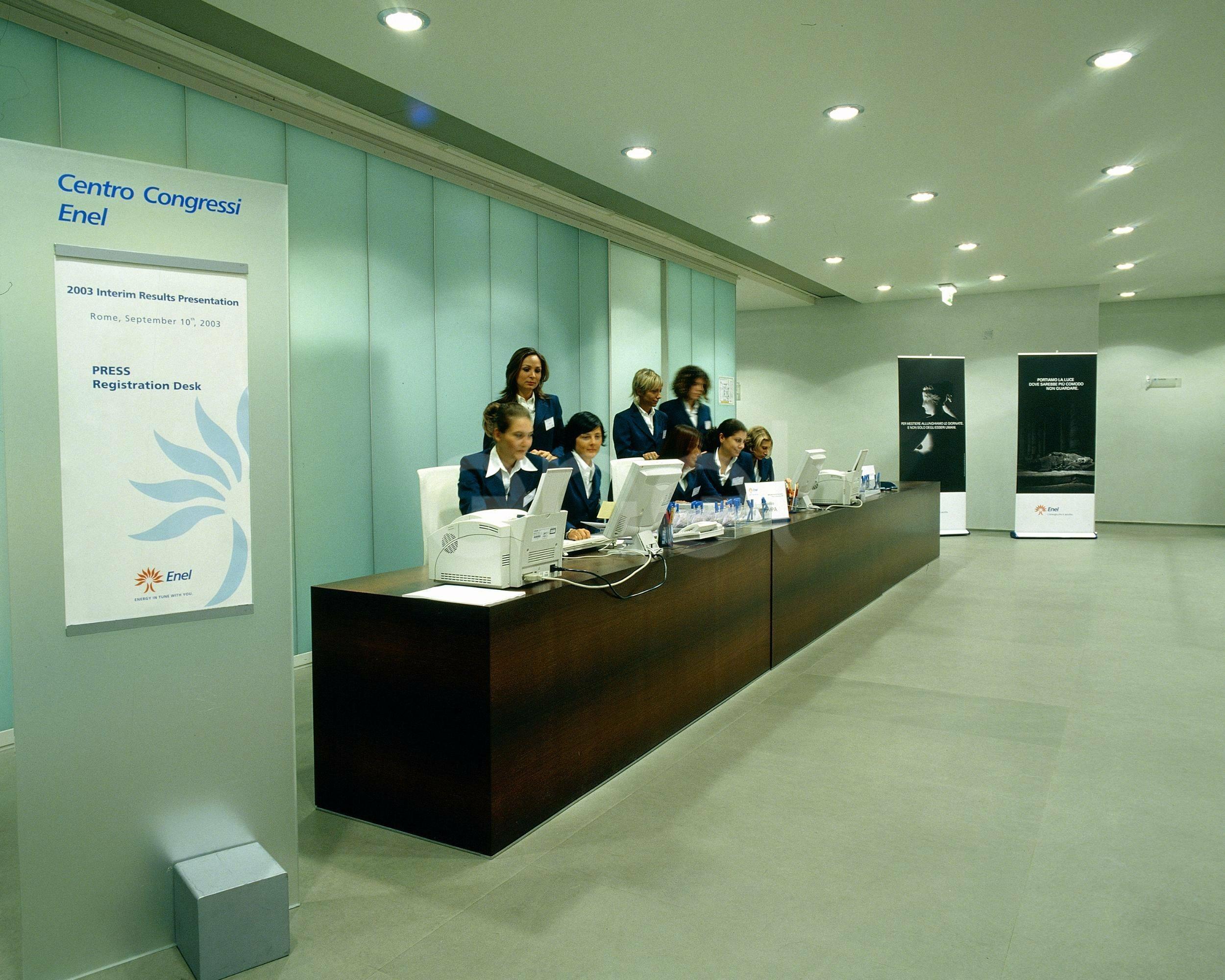 centro congressi: reception
