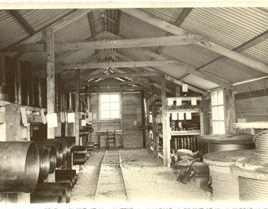 Fabbrica di Larderello. Disegni di vecchi attrezzi, sondaggi, magazzini sonde.