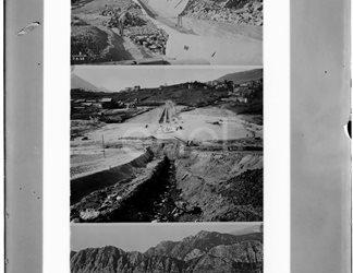 Immagini del cantiere della diga di Castel San Vincenzo