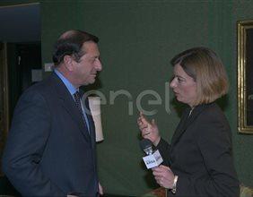 Tommaso Pompei con giornalista