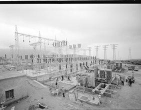 Sottostazione di Soverato in costruzione